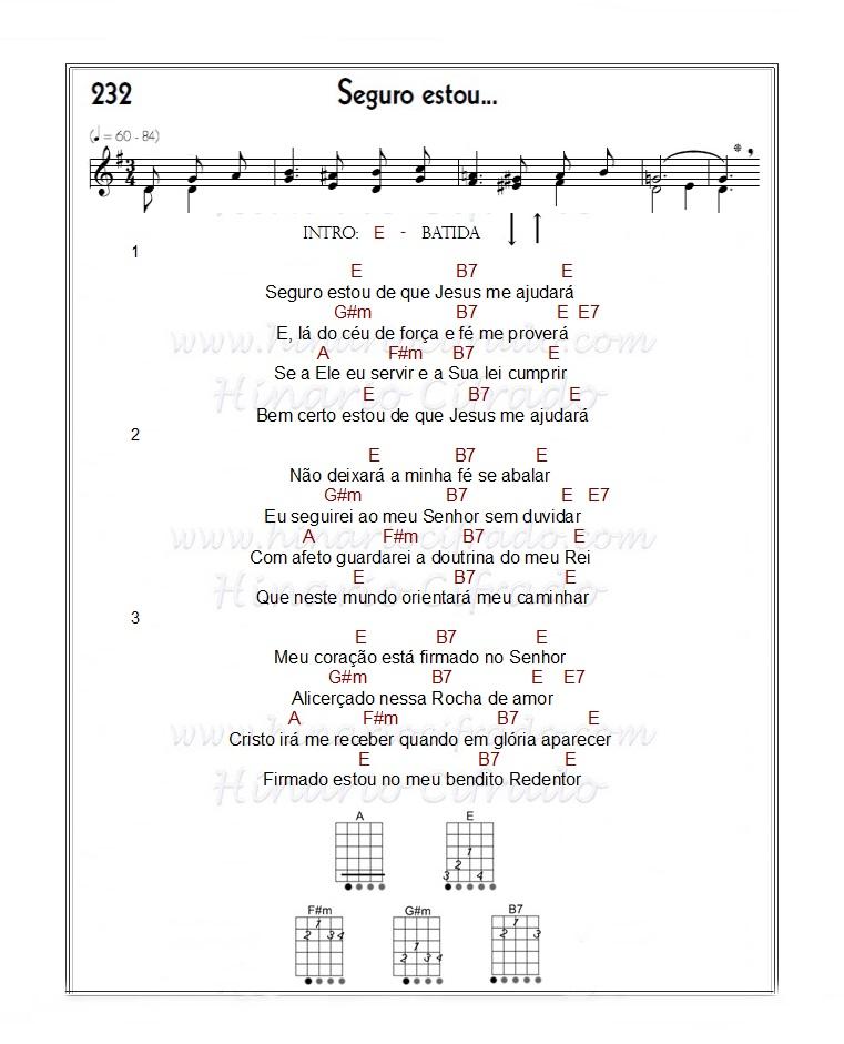 hino 232 cb,hino 232 viola,hino 232 cifra