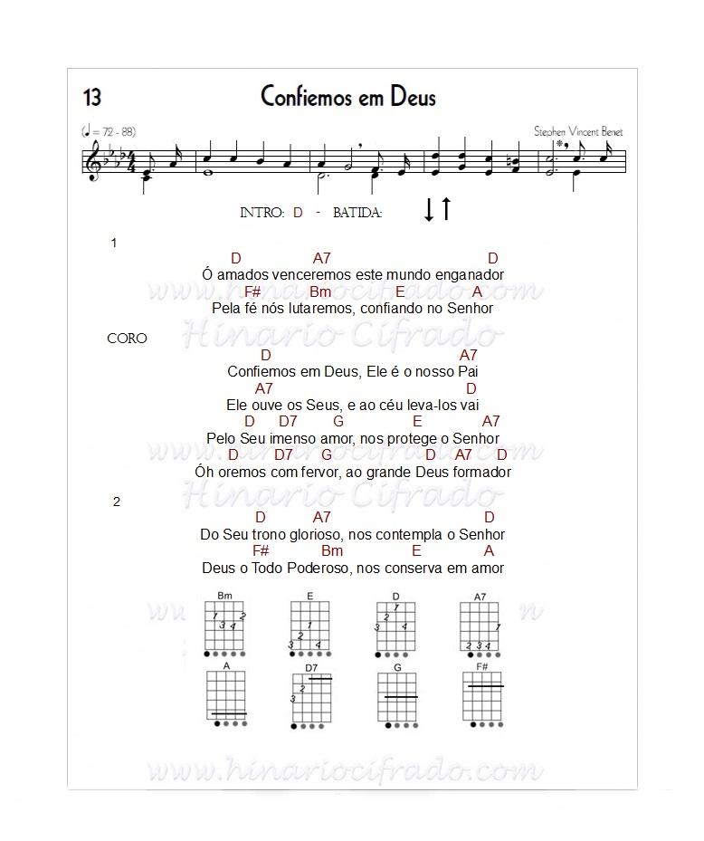 Hino 13 Confiemos em Deus 'Viola Caipira'hino 13 ccb, hino 13 ccb cifra, hino 13 ccb letra, hino 13 ukulele,hino 13 viola,hino 13 viola caipira,