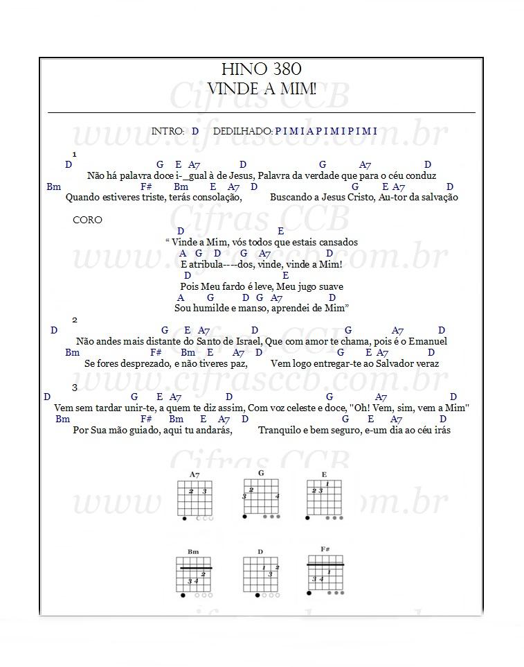 Hino 380 Violão, hino 380 ukulele